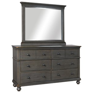 Aspenhome Oxford Dresser with Mirror