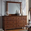 Aspenhome Oxford Dresser with Mirror - Item Number: I07-453+462-WBR