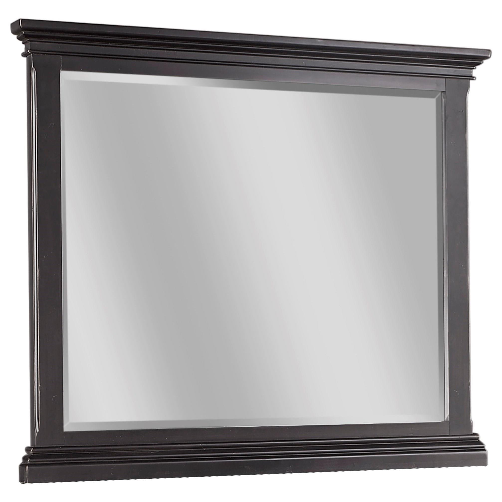Aspenhome Oxford Landscape Mirror  - Item Number: I07-462-BLK