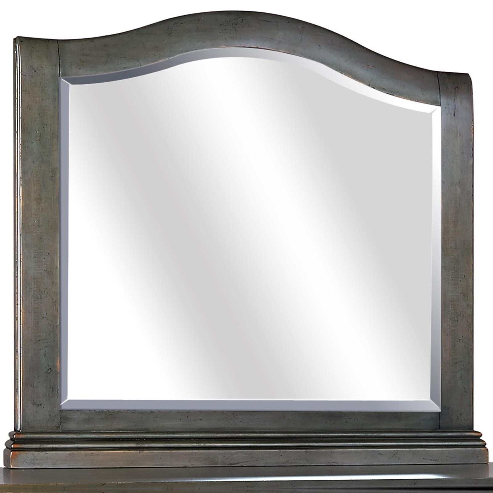 Aspenhome Oxford Arched Mirror - Item Number: I07-463-PEP