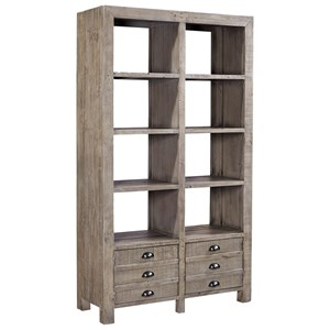 Highland Court Perris Room Divider with 6 Shelves