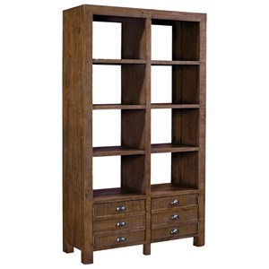 Morris Home Perris Room Divider with 6 Shelves