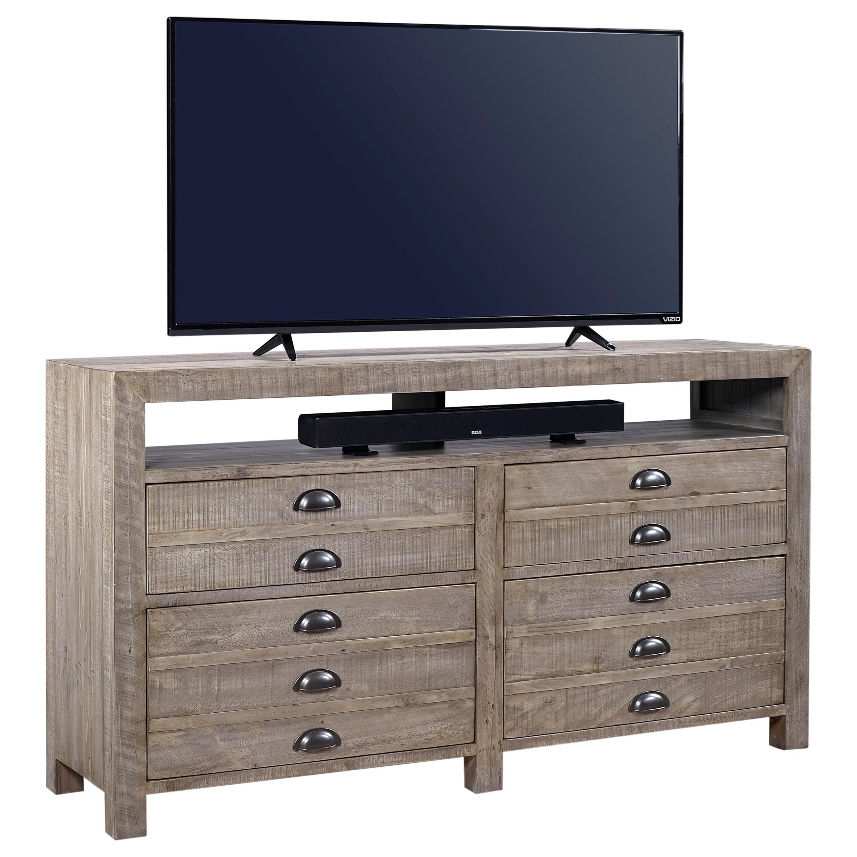 "Aspenhome Printworks 65"" Console  - Item Number: I54-265-OYS"