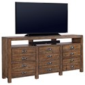 "Morris Home Furnishings Printworks 75"" Console  - Item Number: I54-275-RUM"