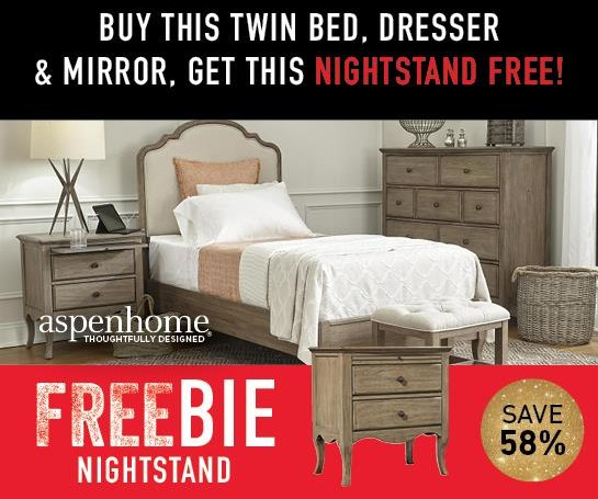 Marseille  Marseille Twin Bed Group with FREEBIE! by Aspenhome at Morris Home