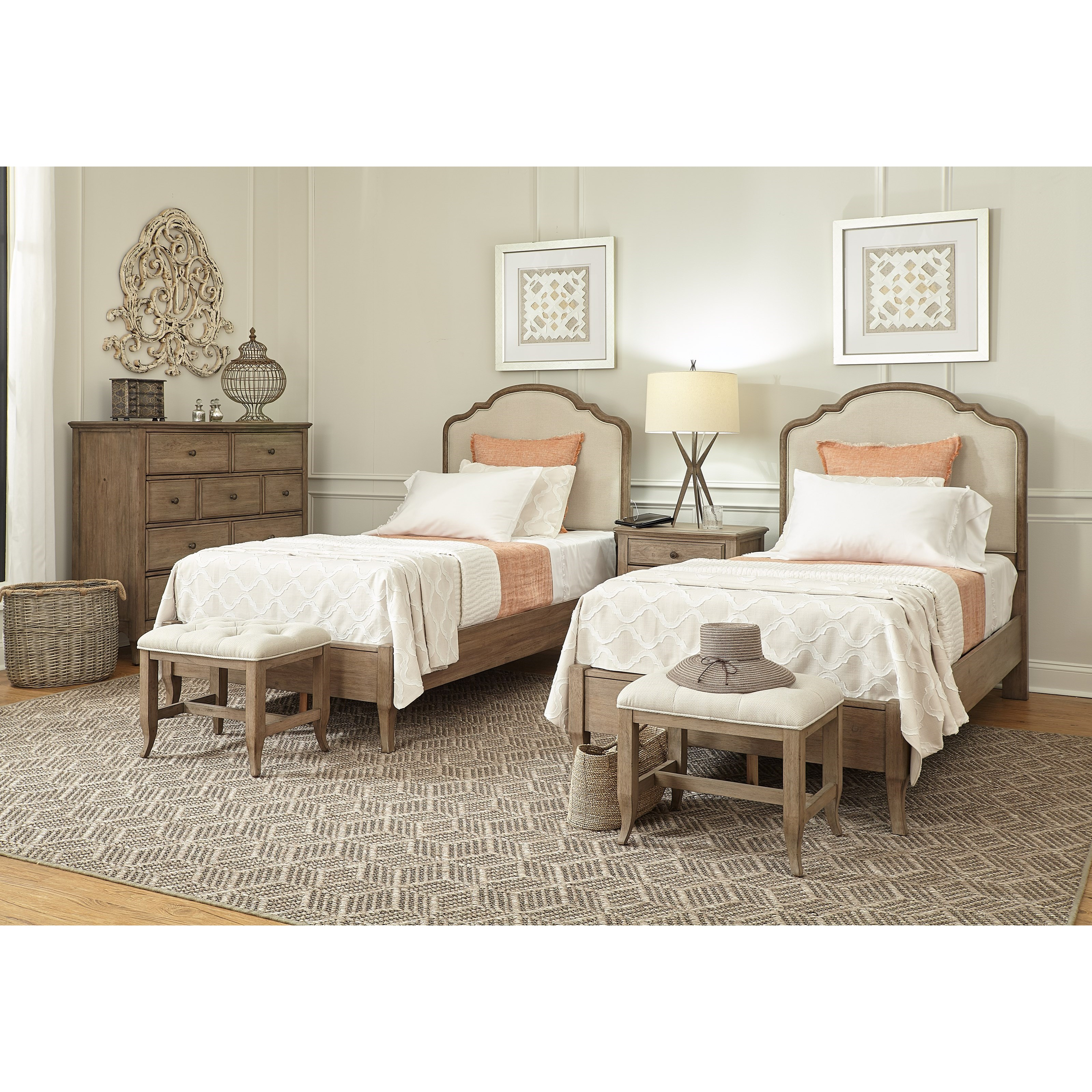 Provence Twin Bedroom Group by Aspenhome at Stoney Creek Furniture