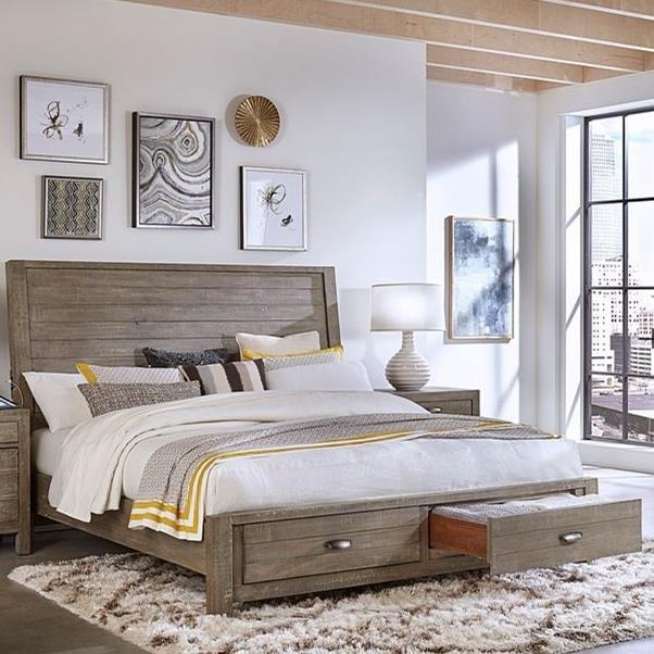 Rozet Queen Sleigh Storage Bed