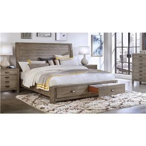 Rozet Queen Sleigh Storage Bed