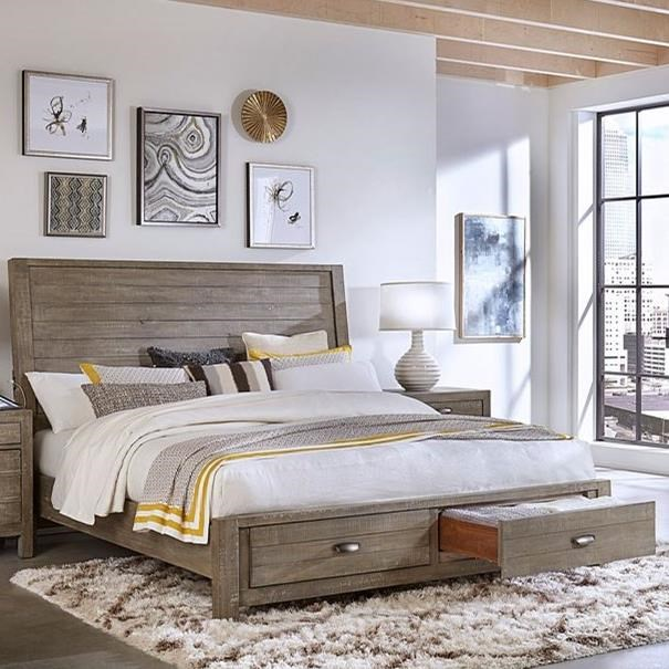 Cal King Sleigh Storage Bed