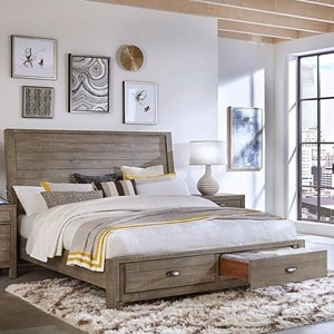 Aspenhome Radiata Cal King Sleigh Storage Bed