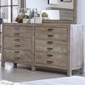 Aspenhome Hampton Six Drawer Dresser  - Item Number: I240-453-RIV