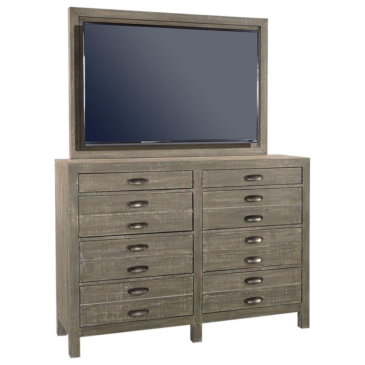 Tv Bedroom Furniture: Aspenhome Radiata 8 Drawer Chesser With TV Mount