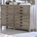 Aspenhome Radiata 8 Drawer Chesser with Jewelry Tray and Media Drawer