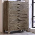 Aspenhome Radiata 4 Drawer Chest with Hidden Compartment