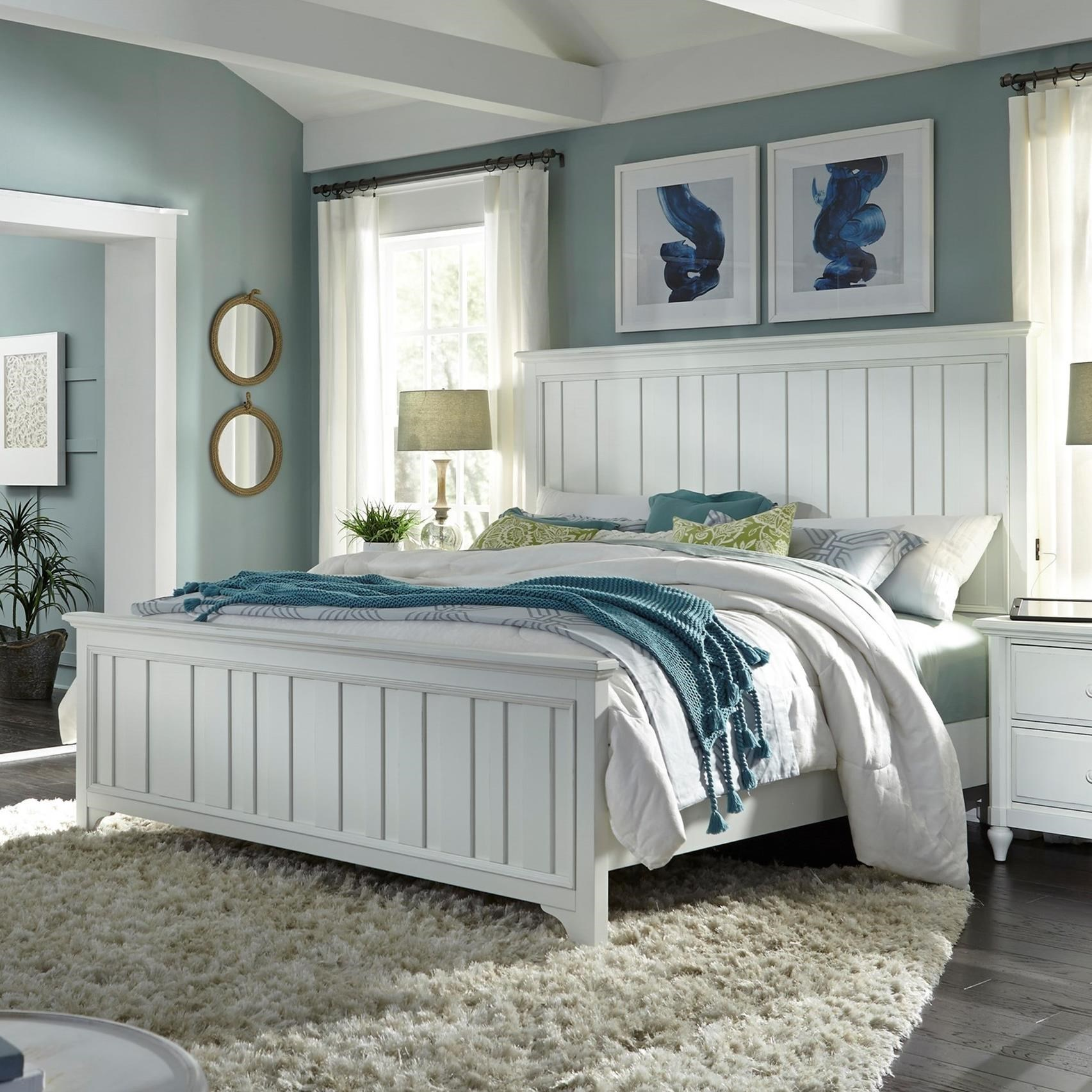Birch Home Retreat King Farmhouse Panel Bed With Usb Charging Ports Sprintz Furniture Panel Beds
