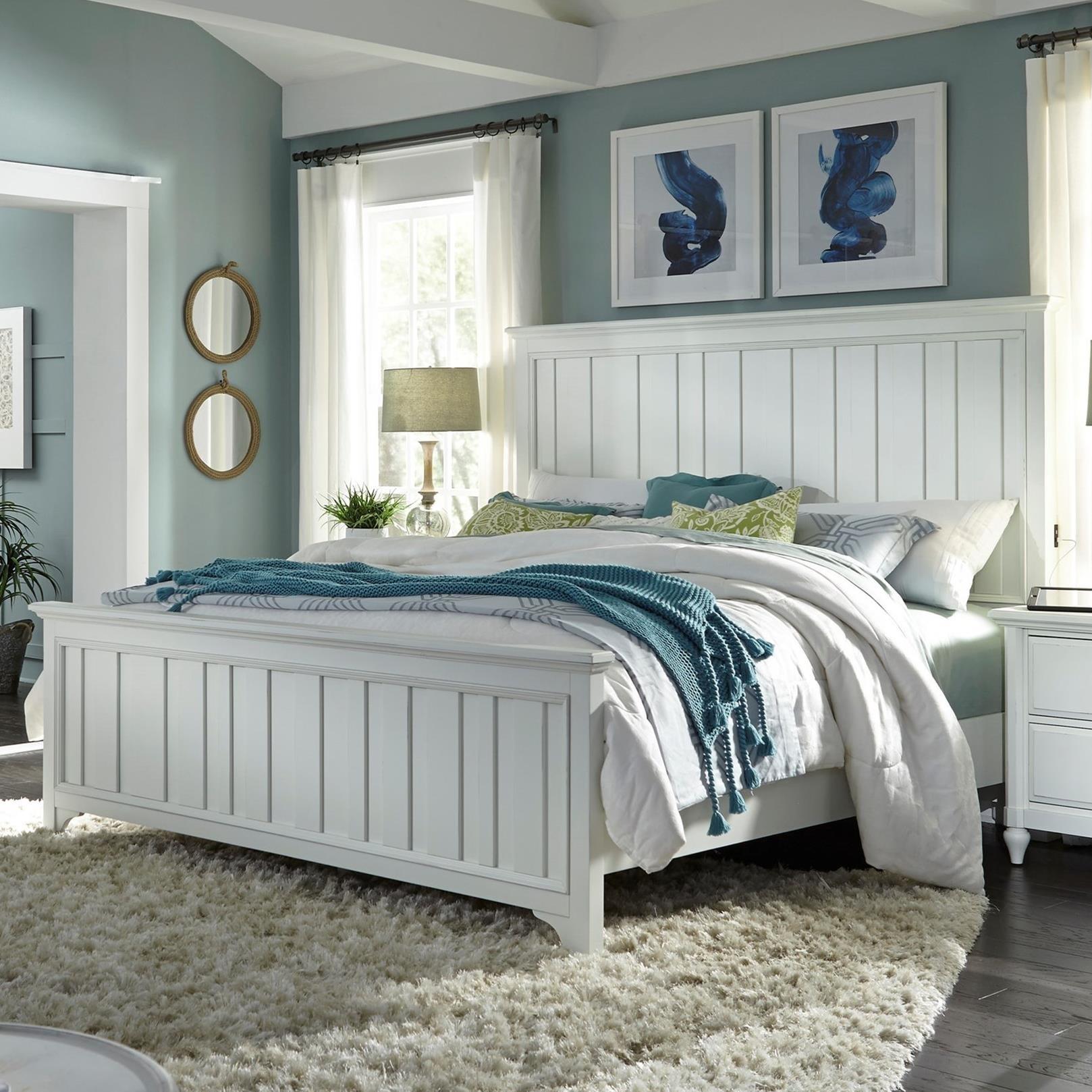 California King Farmhouse Panel Bed