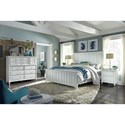 Aspenhome Retreat California King Farmhouse Panel Bed with USB Charging Ports
