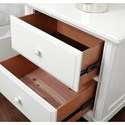 Aspenhome Retreat 2 Drawer Nightstand with 2 AC Outlets on Back