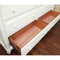 Aspenhome Retreat Six Drawer Dresser with Turned Legs