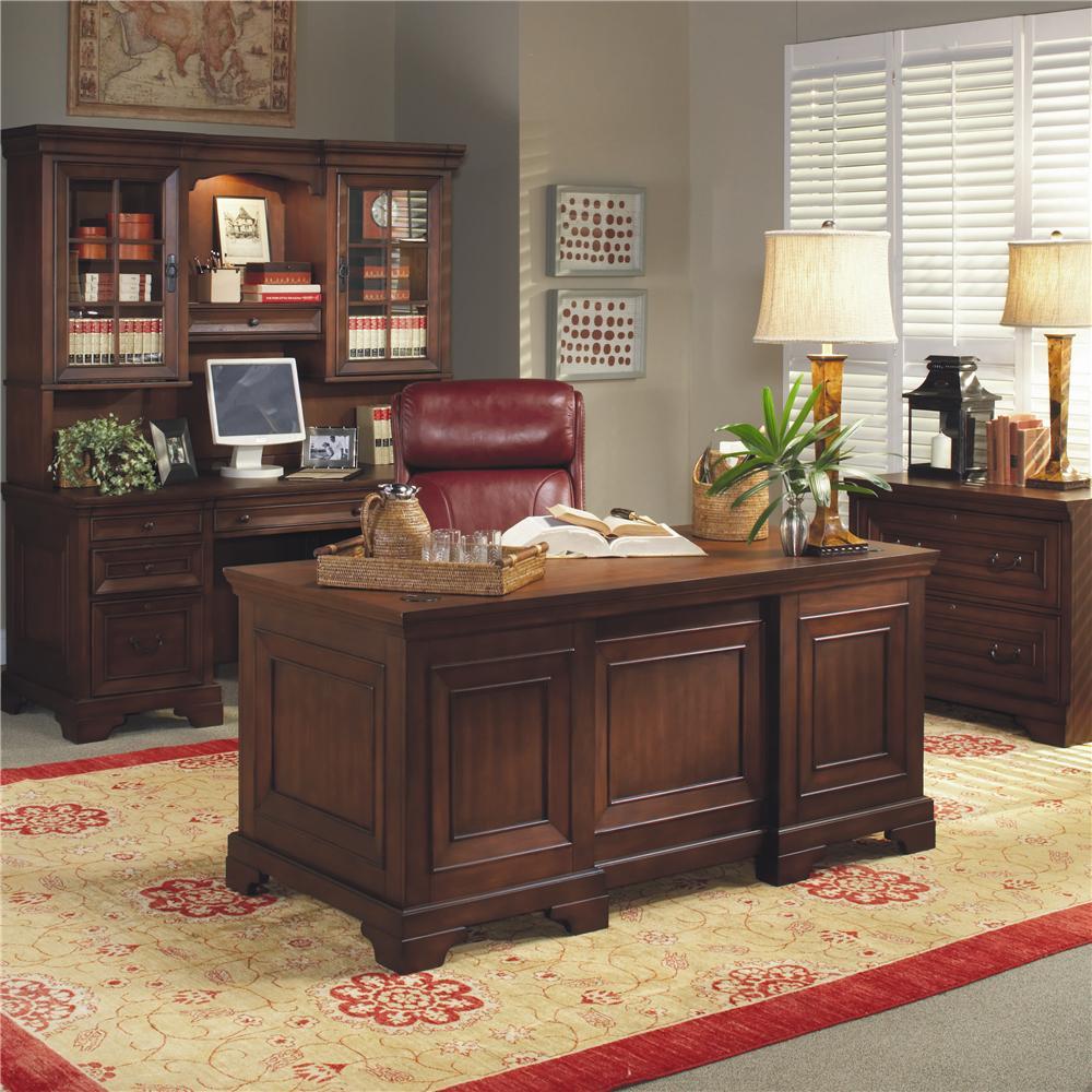 Aspenhome Richmond 66 Inch Double Pedestal Executive Desk