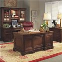 Aspenhome Richmond 66 Inch Double Pedestal Executive Desk - I40-303 - Shown with Credenza Desk and Hutch and Lateral File