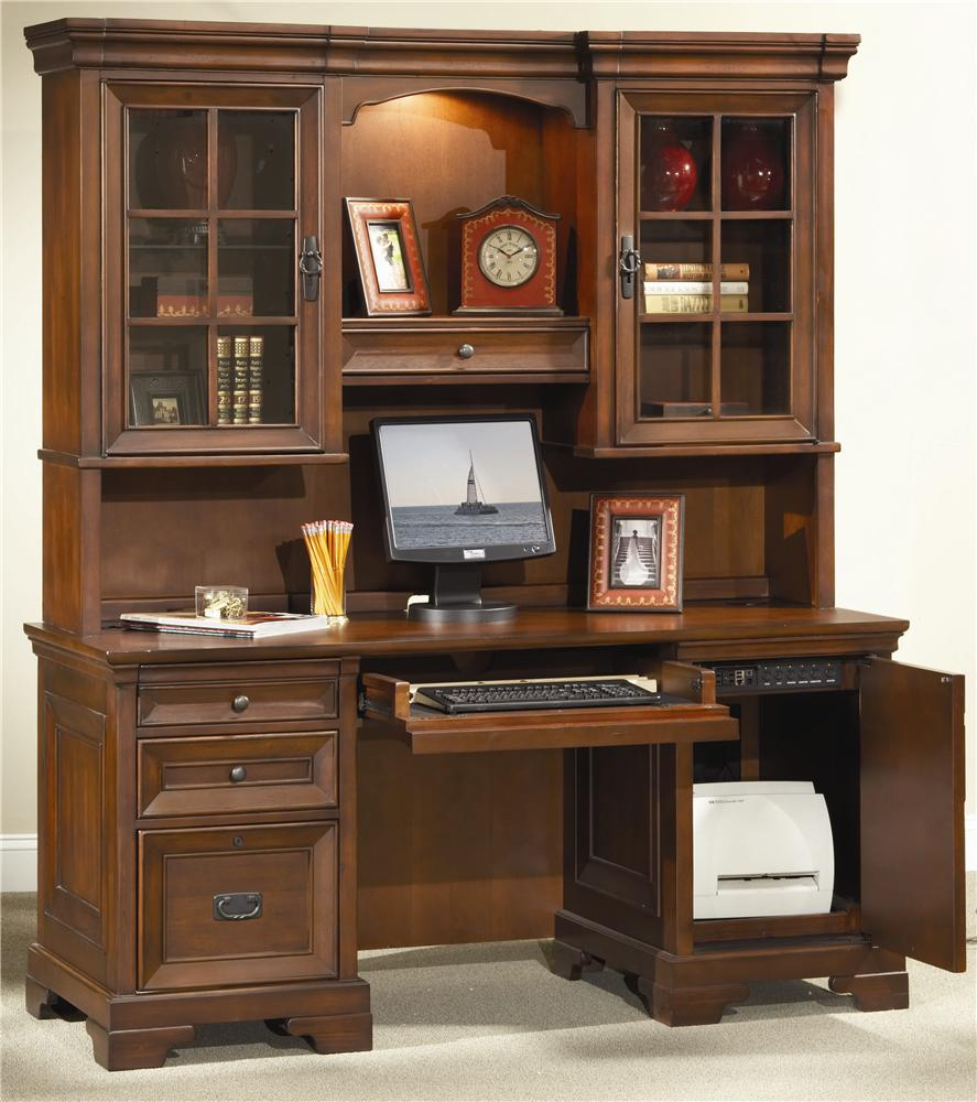 aspenhome richmond credenza desk and hutch item number i403167