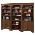 Morris Home Furnishings Richmond Bookcase with Open Shelves - Shown with Door Bookcases