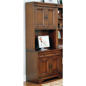 "Morris Home Furnishings Richmond 34"" Computer Desk and Door Hutch"