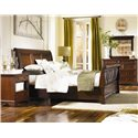 Aspenhome Richmond Two Drawer Nighstand - Shown with Sleigh Bed, and Chesser Mirror - Chesser Shown is No Longer Available by the Manufacturer