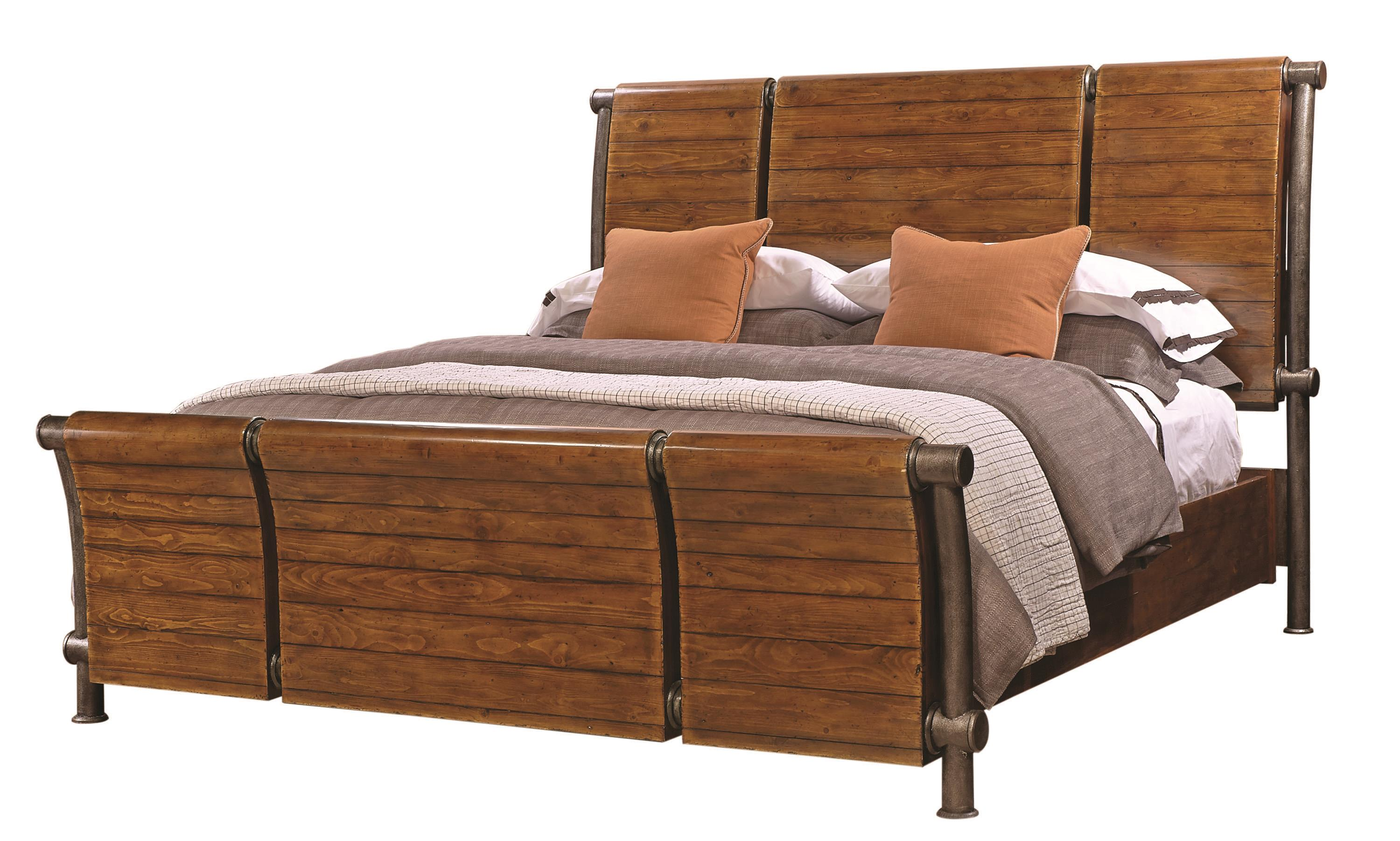 Aspenhome Rockland King Sleigh Bed - Item Number: I58-404+405+406