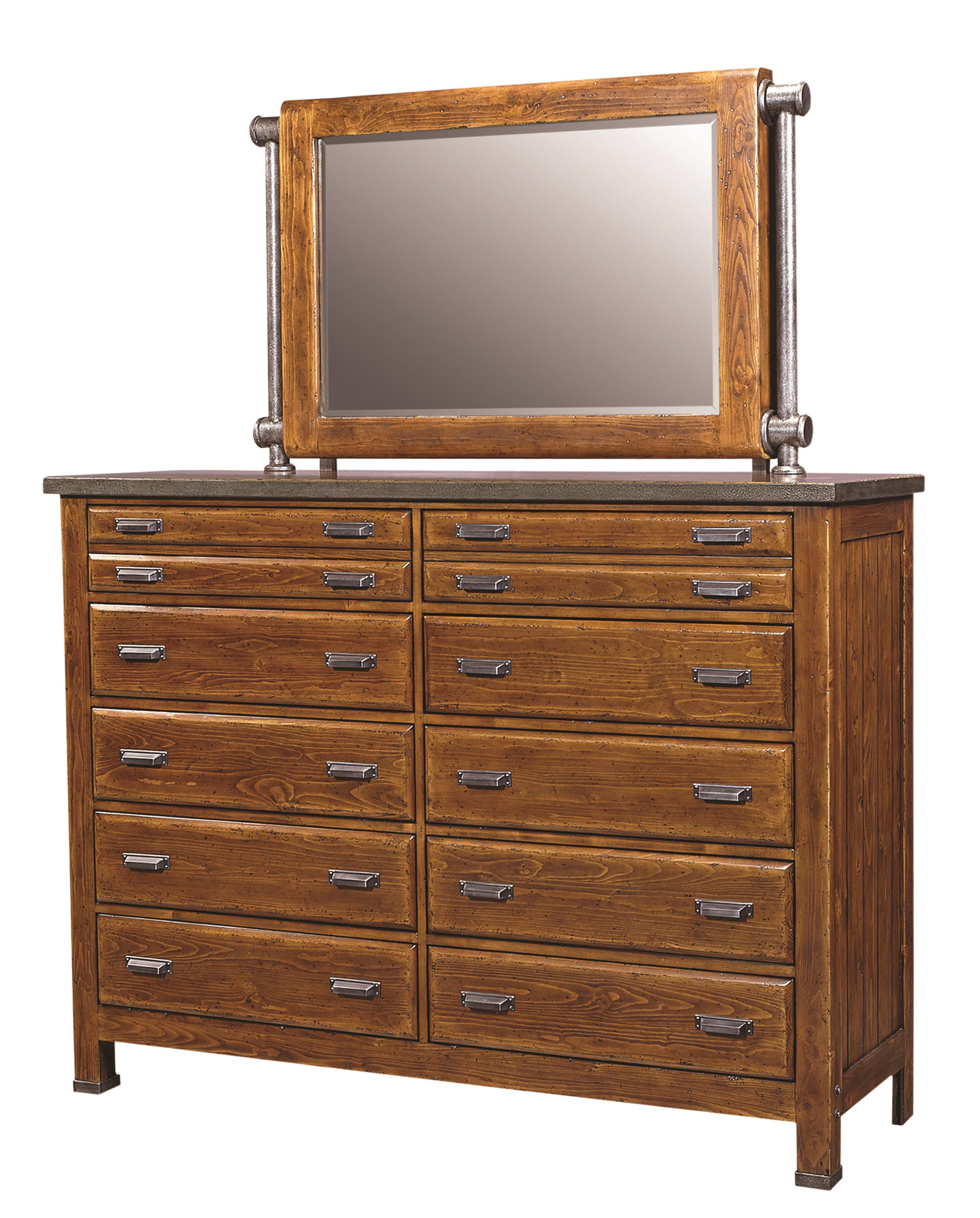 Aspenhome Rockland Chesser and Mirror - Item Number: I58-460+466