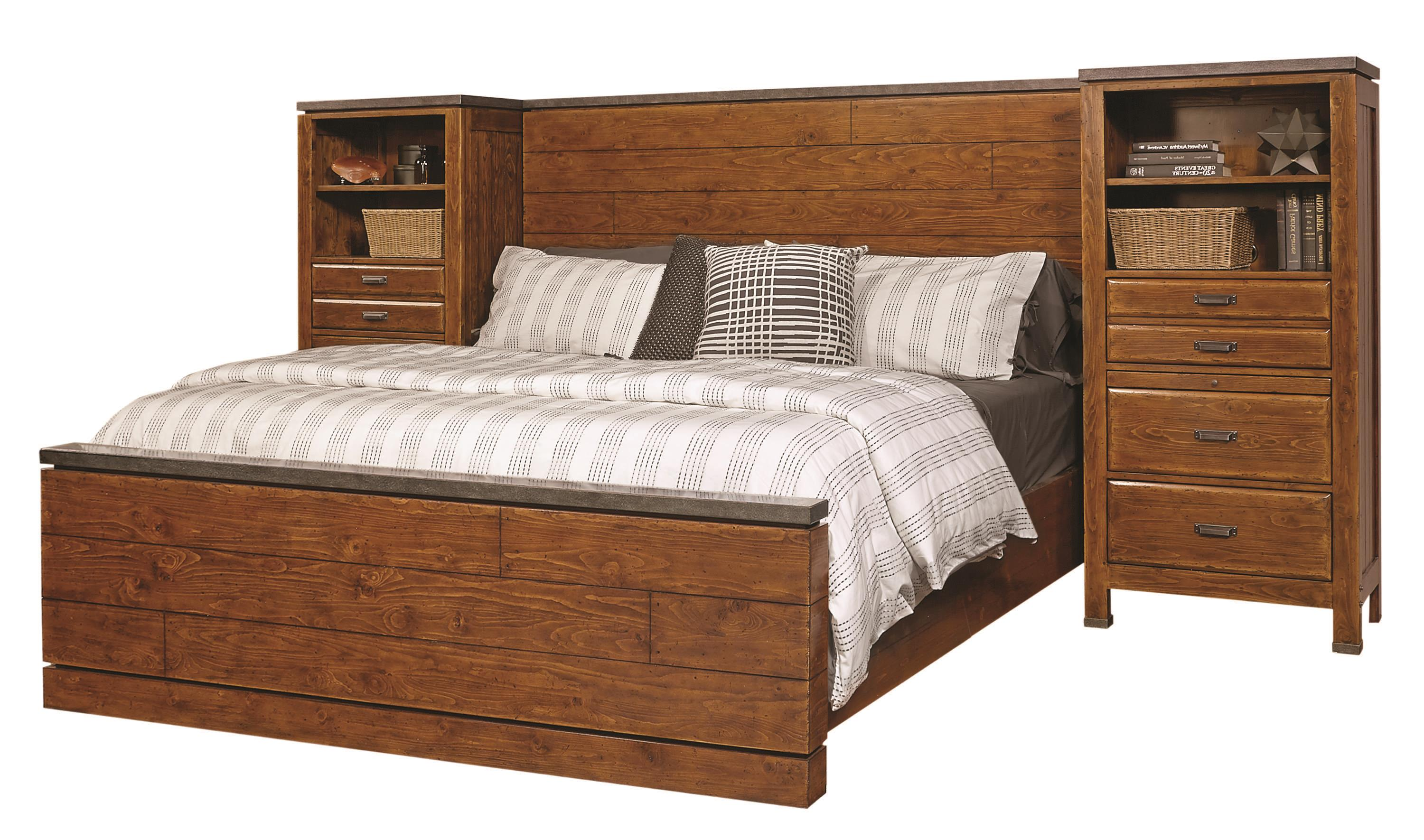 Aspenhome Rockland King Panel Wall Bed - Item Number: I58-495+496+406+2x487