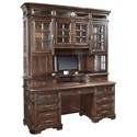 "Aspenhome Sheffield 75"" Credenza Desk and Hutch - Item Number: I39-321+I39-319"