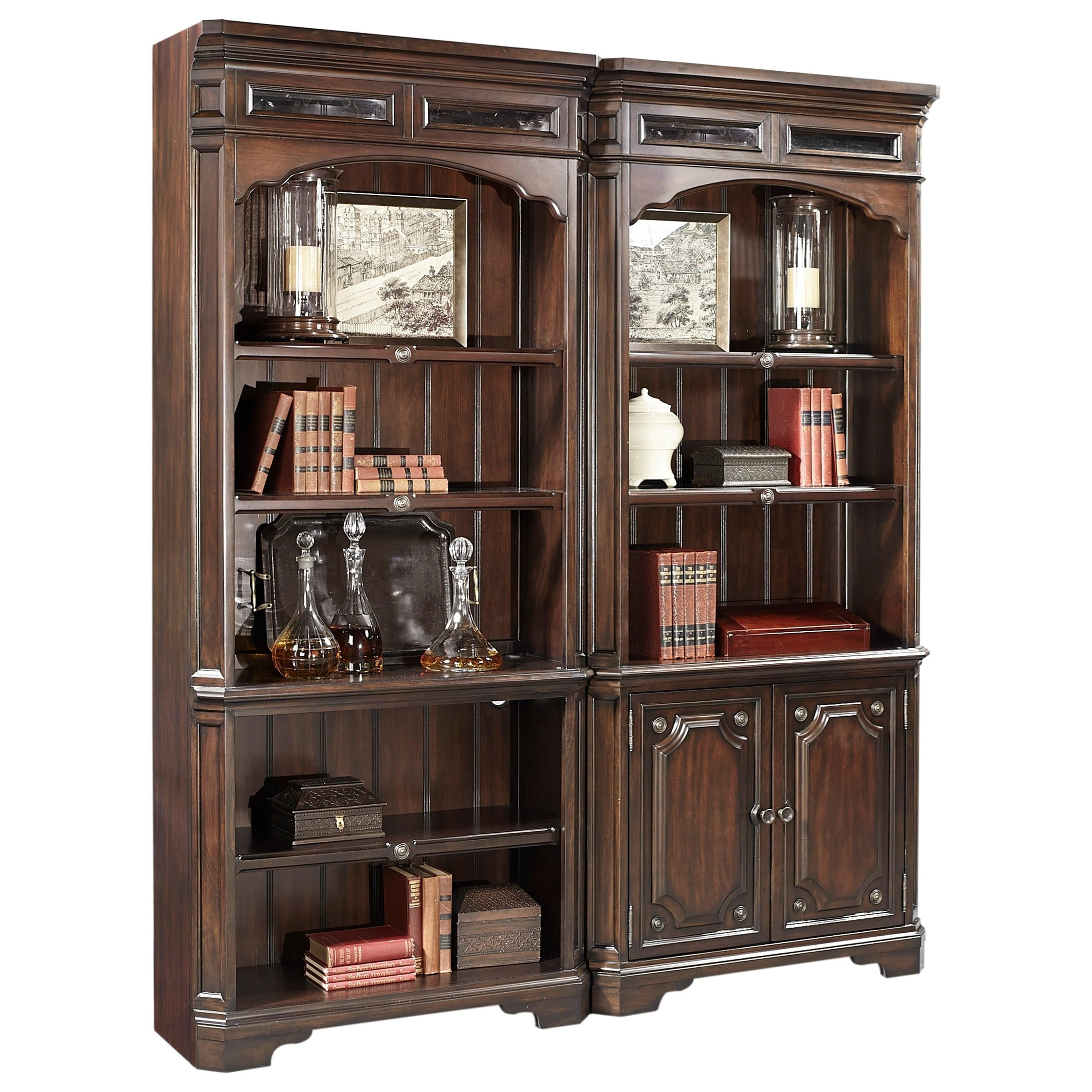 Aspenhome Sheffield Traditional Open Bookcase With Seed