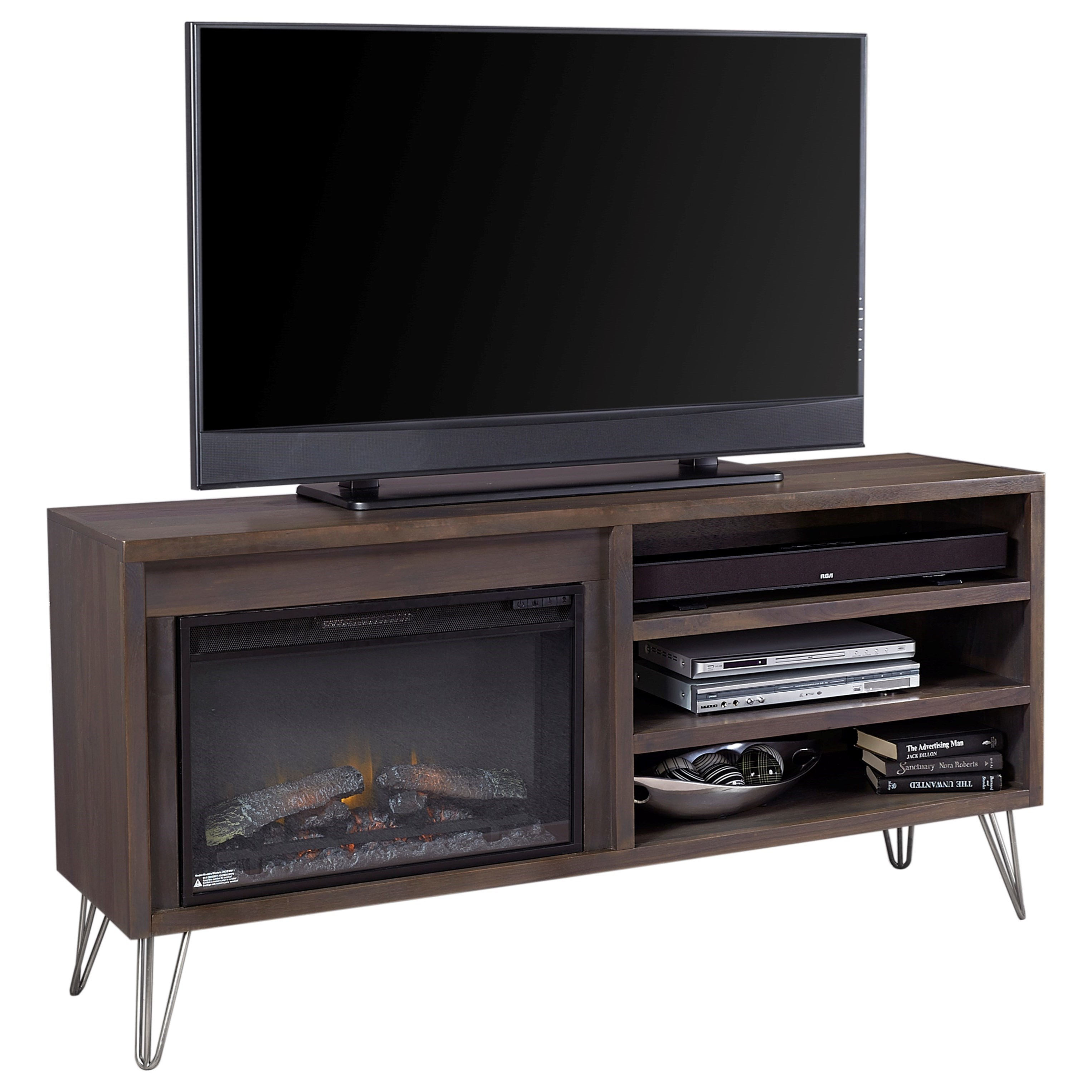 Aspenhome Studio 65 Quot Fireplace Console Wayside Furniture Tv Stands