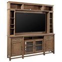 Aspenhome Terrace Point Entertainment Console and Hutch - Item Number: I221-284+284H