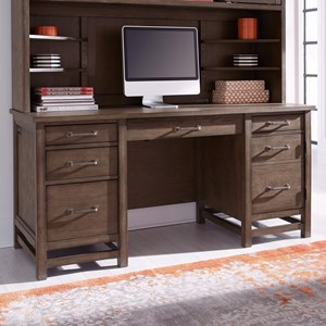 Casual Desk with USB and Outlets