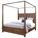 Highland Court Thornton California King Canopy Bed - Item Number: I34-434-SNA+434P-SNA+410-SNA