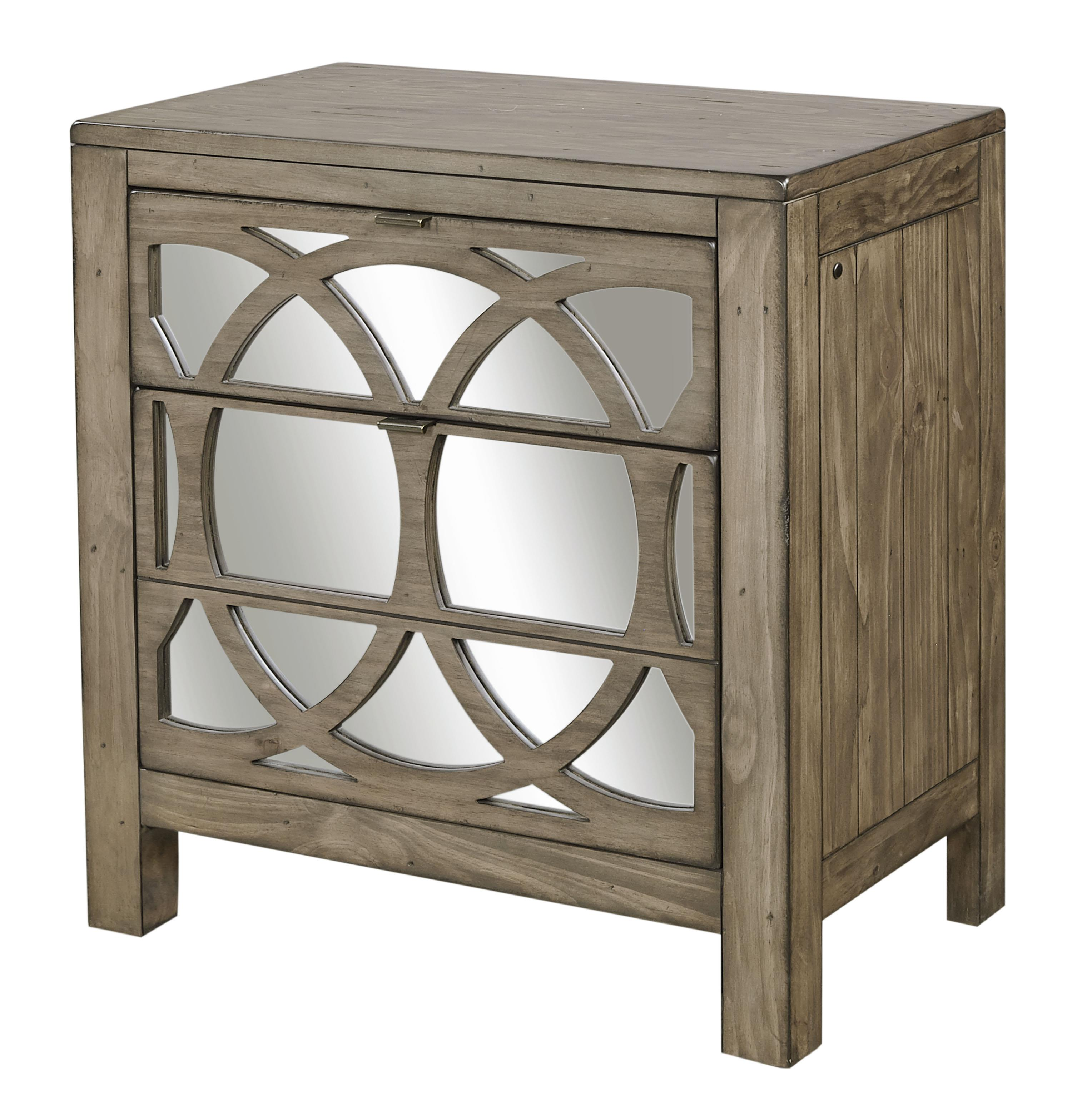 Aspenhome Tildon Liv360 Mirrored Nightstand with Two Drawers