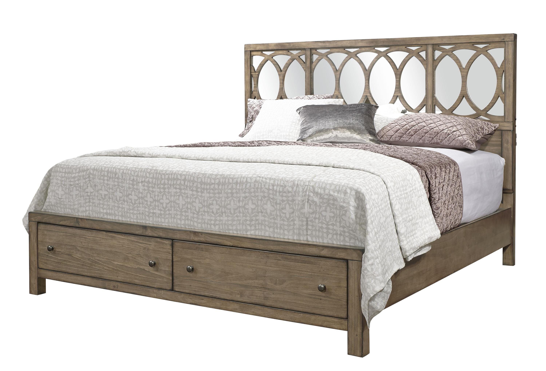 Aspenhome Tildon King Mirror Panel Storage Bed - Item Number: I56-495+407D+406