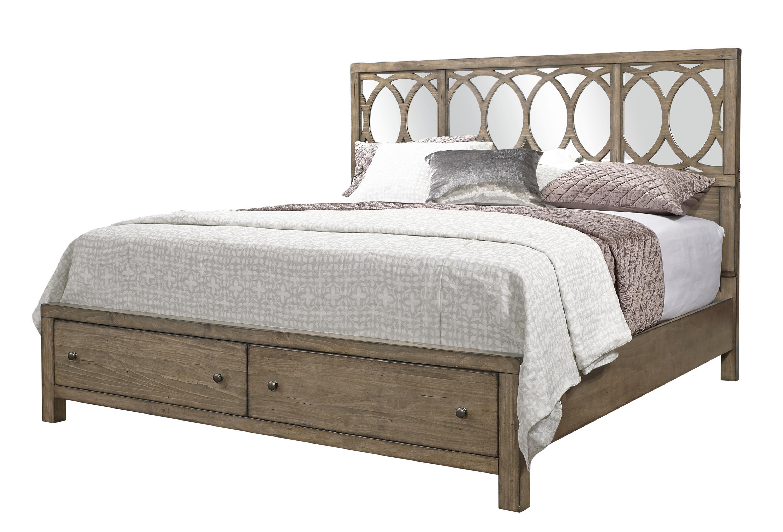 Aspenhome Tildon California King Mirror Panel Storage Bed - Item Number: I56-495+407D+410