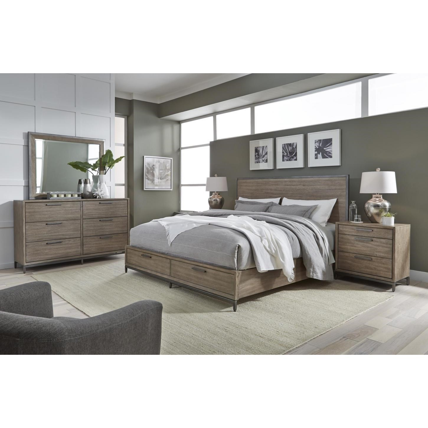 1287 Queen Bedroom Group by Aspenhome at Fashion Furniture