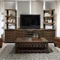 """Highland Court Tolsted 65"""" Console with Piers - Item Number: I45-265+225L+R-BAR"""
