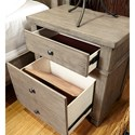 Aspenhome Tucker 2 Drawer Nightstand with 2 AC Outlets on Back