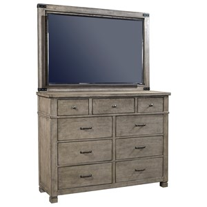 Aspenhome Tucker Chesser with TV Stand