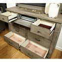 Aspenhome Tucker 9 Drawer Chesser with Drop-Front Center Drawer
