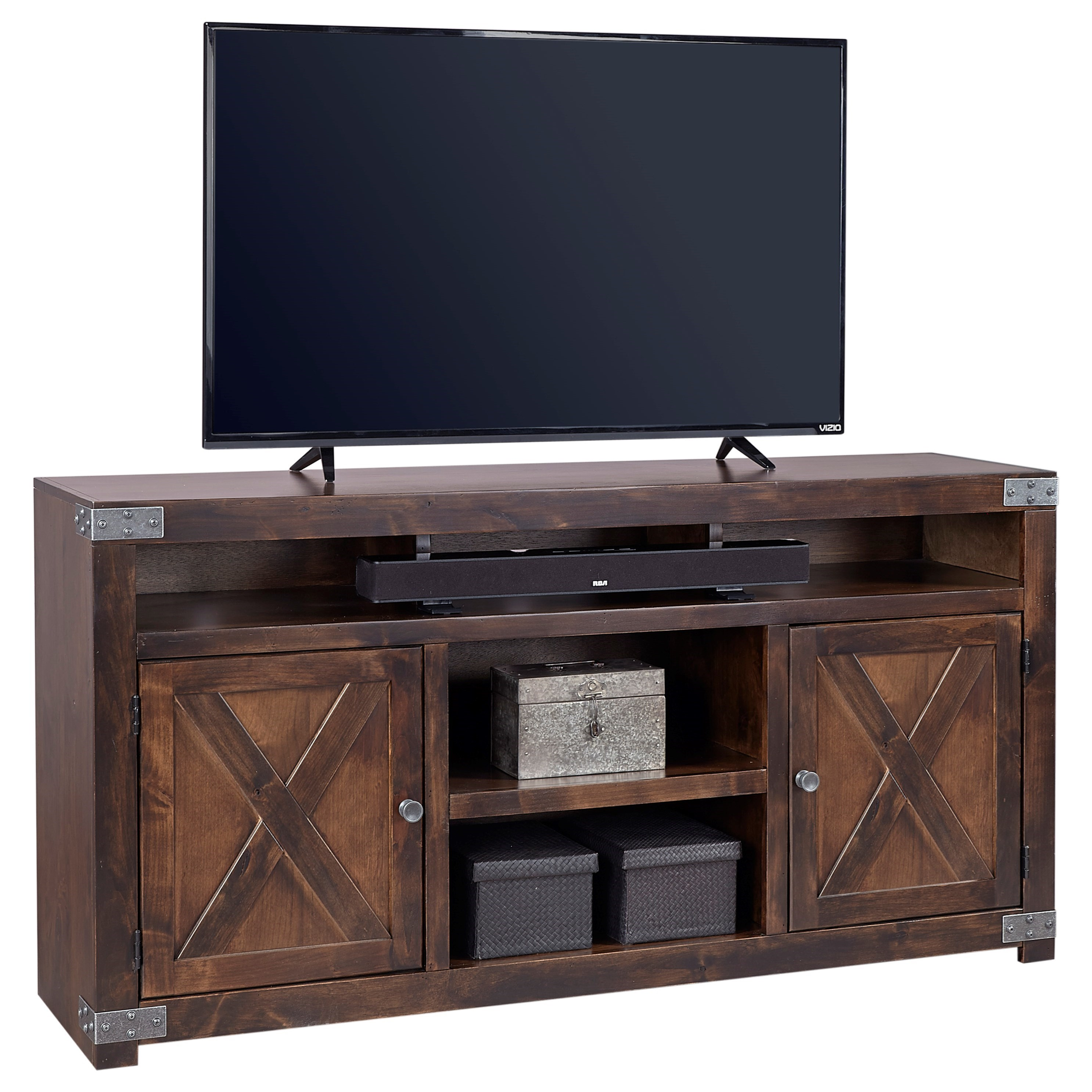 "Aspenhome Urban Farmhouse 65"" Entertainment Console  - Item Number: DF1065-TOB"