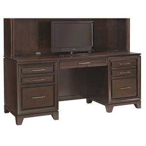 "Morris Home Furnishings Viewscape 66"" Double Pedestal Credenza"