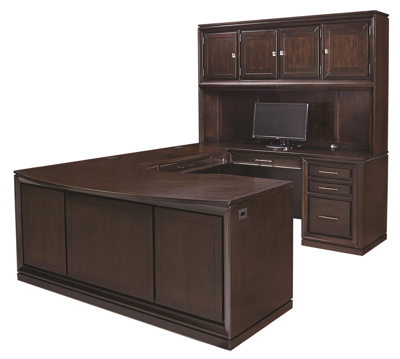Aspenhome Viewscape U Desk - Item Number: I73-319+320R+306+305R