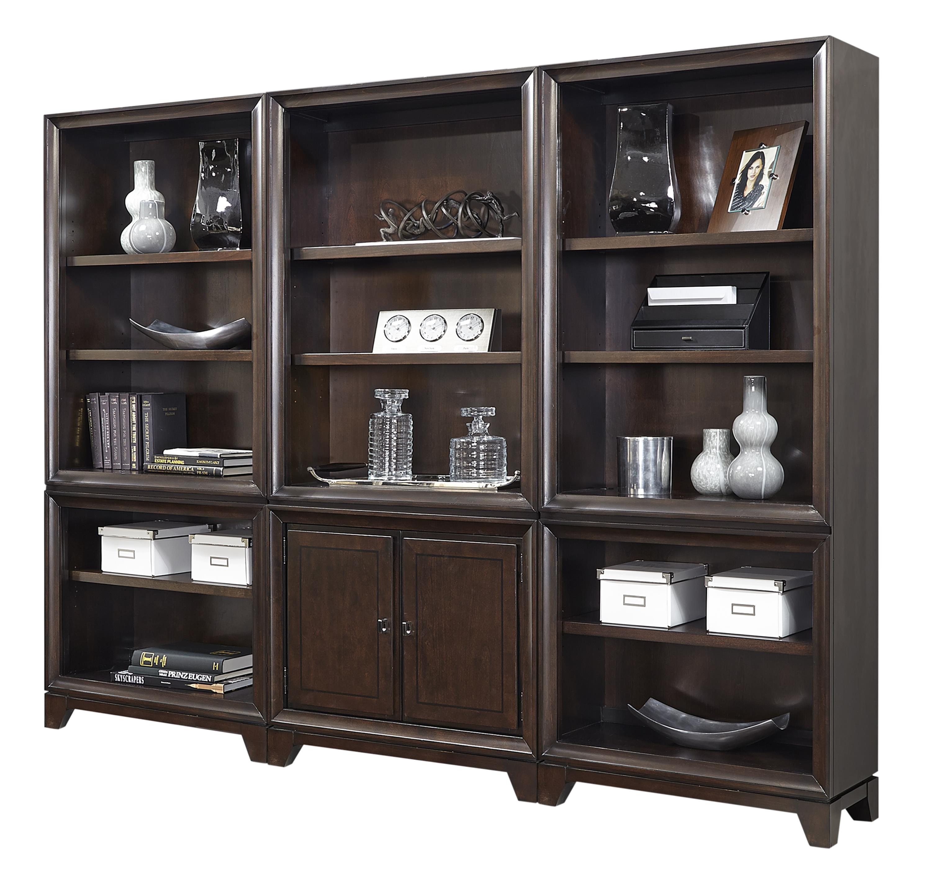 Aspenhome Viewscape Bookcase with Nine Adjustable Shelves - Item Number: I73-332+2x333